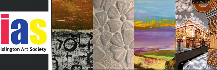 Montage of logo and four images from the spring exhibition